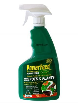PowerFeed Pots & Plants trigger spray product information