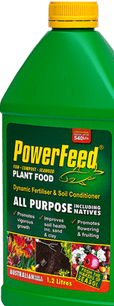 PowerFeed liquid fertiliser and soil conditioner